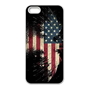 Grunge USA Flag iPhone 5 5s Cell Phone Case White Bdegz