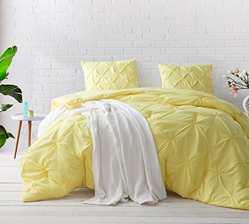 - Byourbed Limelight Yellow Pin Tuck Twin XL Comforter