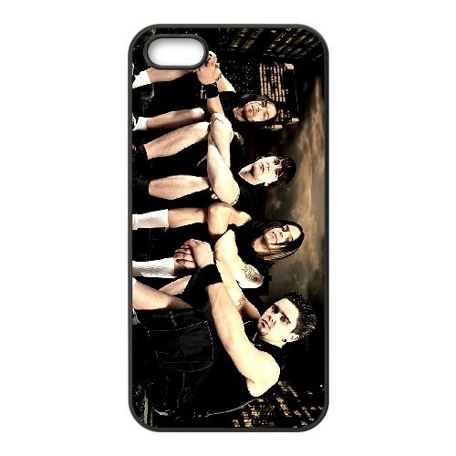 Bullet For My Valentine 014 coque iPhone 4 4S cellulaire cas coque de téléphone cas téléphone cellulaire noir couvercle EEEXLKNBC23960