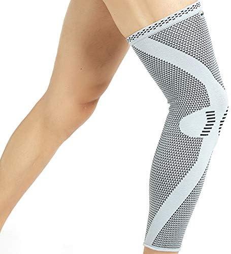 Neotech Care - Bein- und Kniebandage (1 Einheit) - Bambusfaser-Strickgewebe - elastisch & atmungsaktiv - mittlere Kompression - Grau (L)