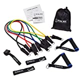 #1 Rated Metal Construction Resistance Band Exercise Kit With ★ Convenient Workout Book Included! ★ Great for Men, Women, and Seniors. Your Home Gym for Yoga, Pilates and Physical Therapy. Low Impact Training Stack-able to 85 Lbs. Comes with Convenient Exercise Book Which Puts Tons of Ideas in the Palm of Your Hand!