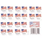 USPS Forever Stamps Four Flags Booklet of 20 Postage Stamps