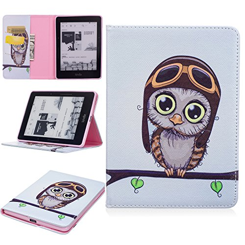 Kindle Voyage Case, Ratesell New Fashion Slim Folio Stand PU Leather Case Cover for Kindle Voyage Owl