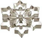 "Ateco 14429 Large Snowflake Cookie Cutter, Stainless Steel, 8"" diameter"