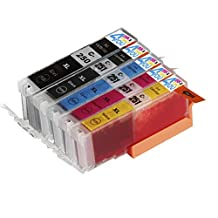 5 Pack - Compatible Ink Cartridges for Canon PGI-250 & CLI-251 XL Inkjet Cartridge Compatible With Canon Pixma MG5420 MG5450 MG5520 MG6320 MG6350 MG6420 MG7120 MX722 MX725 MX922 MX925 iX6820 iX6850 iP7220 iP7250 iP8720 iP8750