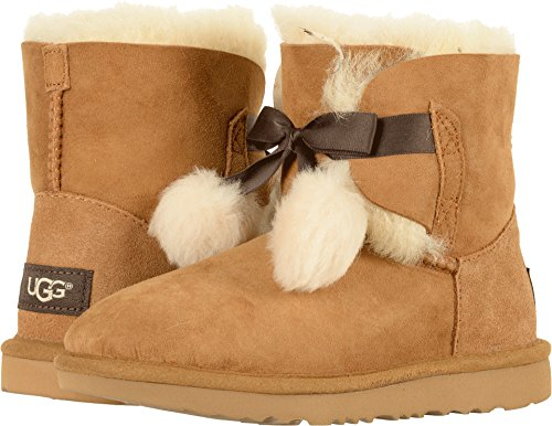 UGG Girls K Gita Pull-on Boot, Chestnut, 4 M US Big Kid