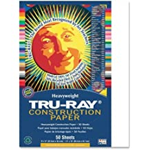 "Wholesale CASE of 25 - Pacon Tru-Ray Heavyweight Construction Paper-Construction Paper,76 lb.,9""x12"",50/PK,White"