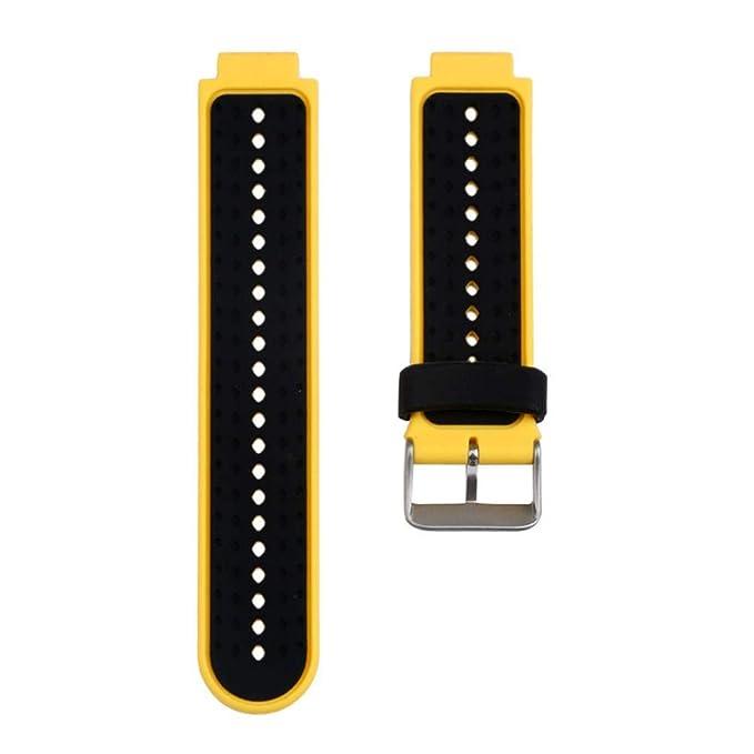 JiaMeng para Garmin Forerunner 735XT Watch2,Banda de Reloj de Repuesto de Correa de Silicona Suave(Amarillo): Amazon.es: Ropa y accesorios