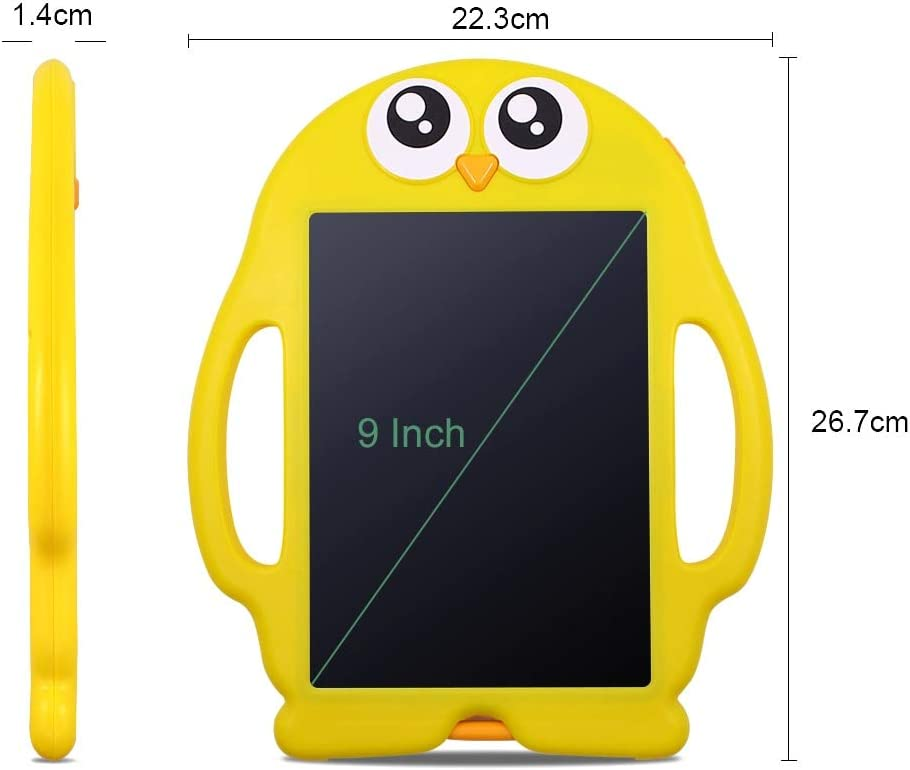 LCD Writing Tablet Portable 9 Digital LCD Writing Tablet Drawing Tablets Electronic Handwriting Graphic Board Pads Toy for Children Kids 1 Table with 1 Pen