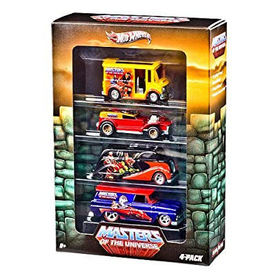 Hot Wheels Nostalgia Series Vehicle 4-Pack - HOT WHEELS MASTERS OF THE UNIVERSE DIE CAST COLLECTORS SET OF 4: Toys & Games