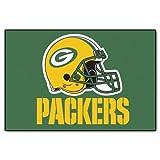 FANMATS NFL Green Bay Packers Nylon Face Starter Rug