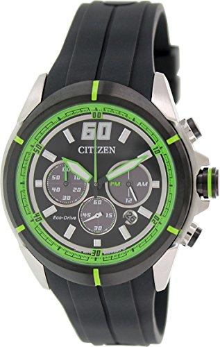 Men's Citizen Eco-Drive Chronograph Racing Watch (05e Eco Drive)