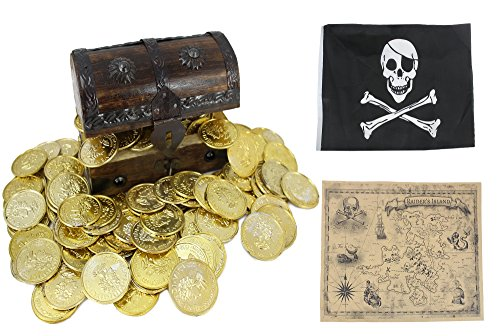 Well Pack Box Wooden Pirate Treasure Chest 5