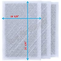 Dynamic Air Cleaner Replacement Filter Pads 21 1/8 x 23 3/4 Refills (3 Pack) White