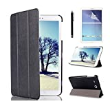 Samsung Tab E 8.0 Tablet Case,Samsung T375 Case,Tab E 8.0 T377R Tablet Cover,PU Leather Outer Cover Case with Kickstand for Galaxy Tab E 8-inch Cover+ Screen Protector + Stylus