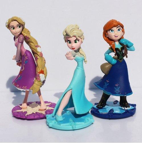 [10cm 3pcs/lot Cartoon Anime Princess Elsa Anna Rapunzel PVC Action Figure] (Prince Ashitaka Costume)