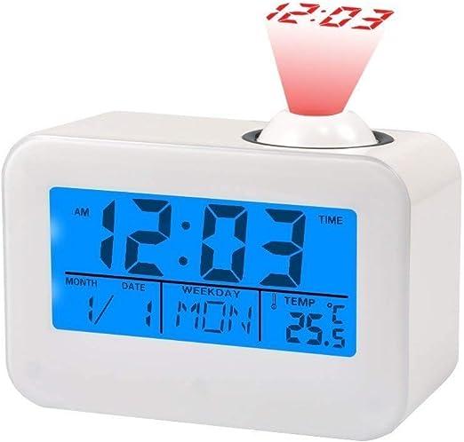 Amazon.com: Proyección relojes visualización LCD Alarma ...