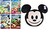Disney Snacktime Mickey Mouse Big Pillow & Fruit Crisps / Apples / Cinnamon / Pears / Strawberries & Bananas 4-Pack with Emoji Big Character Plush