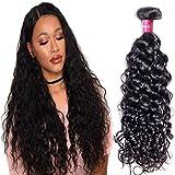 Longqi Beauty hair 10A Brazilian Water Wave Virgin Hair 1 Bundle 100% Unprocessed Remy Human Hair Weaves Natural Black (12 inch,1 Bundle) For Sale
