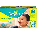 Pampers Swaddlers Diapers Size 4 Economy, Pack 104 Count, Our unique Absorb Away - New!!!