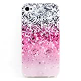 Iphone 4 Case, JAHOLAN Purple Flash Clear Bumper TPU Soft Case Rubber Silicone Skin Cover for iphone 4s 4