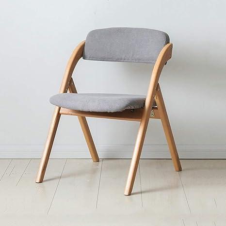 Amazon.com: HPLL Silla plegable, silla plegable de madera ...