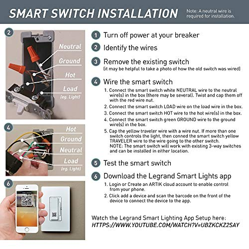 Legrand - Pass & Seymour Radiant Smart WWRL50WH Tru-Universal Wi-Fi Enabled Dimmer, White by Pass & Seymour (Image #5)