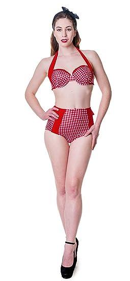 6861d1d6ea Banned Maillot de Bain pin-up Retro Rouge XL: Amazon.fr: Vêtements ...