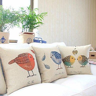 【Bailand】® Set of 3 Country Lovely Birds Cotton/linen D