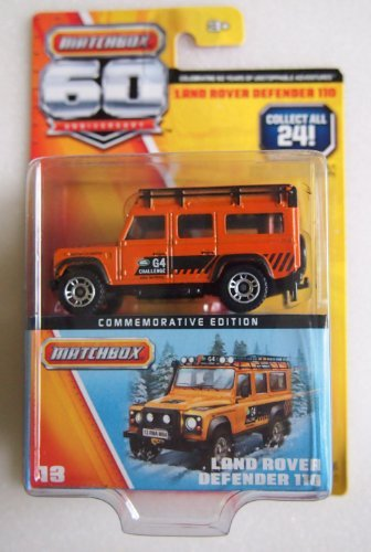 Matchbox 60th Anniversary Land Rover Defender 110 Orange