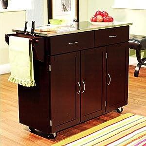Amazon.com - Indoor Extra Large Kitchen Cart Storage
