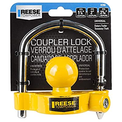 REESE Towpower 72783 Universal Coupler Lock, Adjustable Storage Security, Heavy-Duty Steel (2): Home Improvement