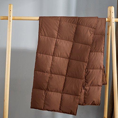 Puredown Packable Down Throw Sport Blanket, Downproof Fabric, 50x70''