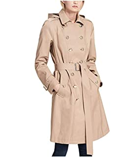 Calvin Klein Womens Pe E Double Ted Trench Coat Khaki