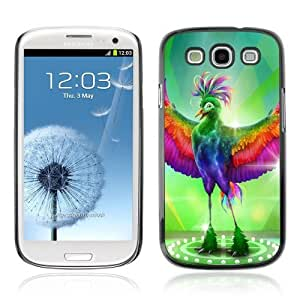 Designer Depo Hard Protection Case for Samsung Galaxy S3 / Fabulous Colorful Bird