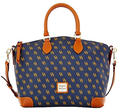 Dooney & Bourke Gretta Signature Satchel  Navy