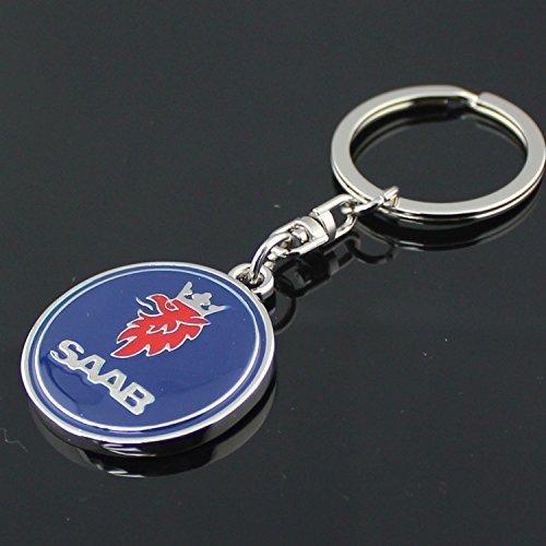 Logo Metal Keychain - SAAB 3D Metal Logo Car Key Chain Ring Marked Model Keychain