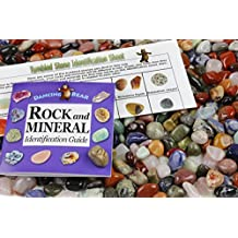 2 Pounds Tumbled Polished Natural Gem Stones + Educational Color ID Sheet & 24 page Rock & Mineral Book. Average Stone Size ¾ inch. Choose 1, 2, 5, 11 or 22 Pounds. Dancing Bear Brand