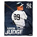 The Northwest Company MLB New York Yankees Aaron Judge Players HD Silk Touch Throw Blanketplayers HD Silk Touch Throw Blanket, Blue, One Size