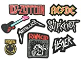 Set patch of Iron on Band Patches Rock Music Band #7,Led Zeppelin...