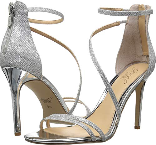 Badgley Mischka Jewel Women's GAIL Heeled Sandal, Silver, 7 Medium US