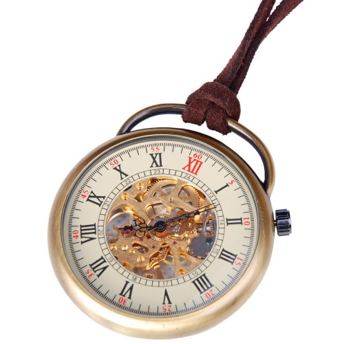Mens-Skeleton-Pocket-Watch-Quality-Mechanical-Movement-Hand-Wind-Roman-Numerals-Vintage-Style-PW17