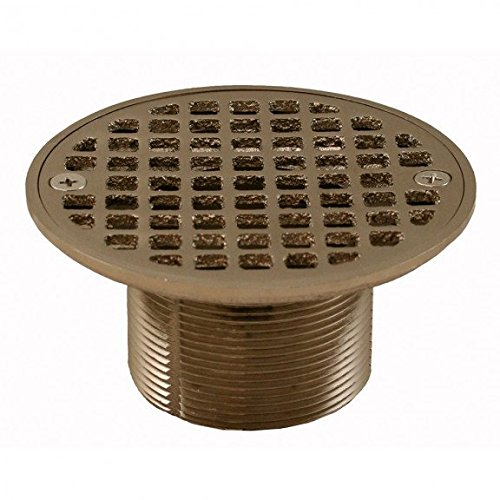 Jones Stephens Brushed Nickel 2 Metal Spud with 4-1/4 Round Strainer