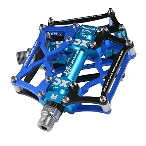 RockBros Mountain Bike Pedals Platform Cycling Sealed Bearing Alloy Flat Pedals (Bike Pedals)