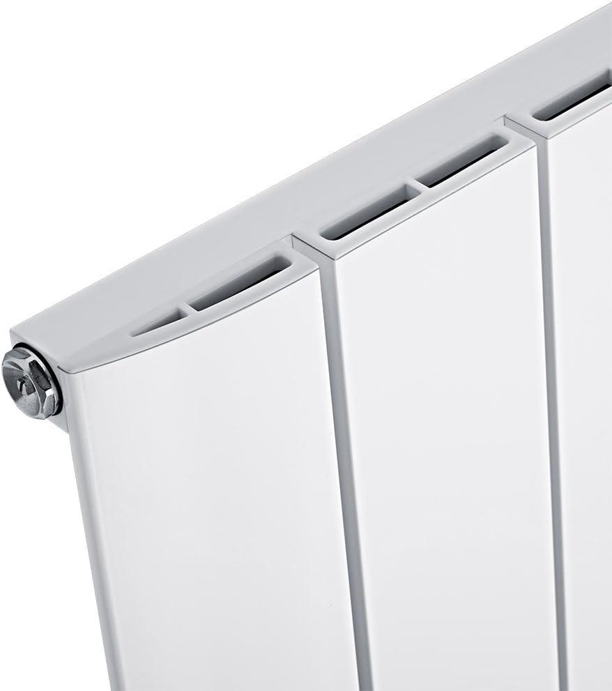 - 1600 x 280 mm Vertikaler Design-Heizk/örper aus Stahl in Wei/ß Hudson Reed Heizk/örper Delta RAL 9016