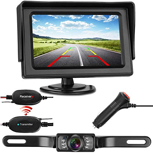 iStrong Reverse Camera Wireless and Monitor Kit Waterproof 9V-24V system For Car/Vehicle with 7 LED Night Vision