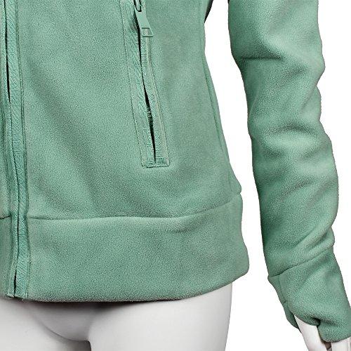 Funnel Pantone Mujer Fleece de Feldspar Bench green Chaqueta lana wAPpI