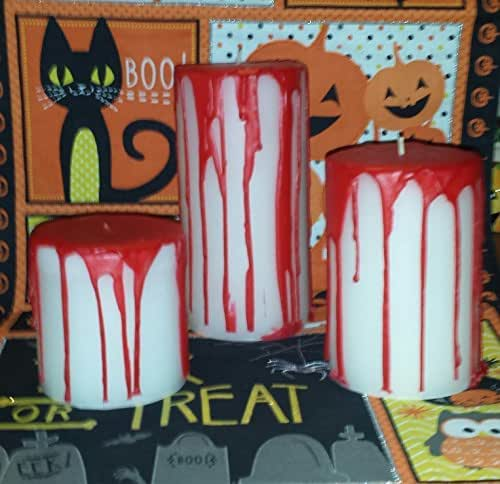 """Bloody"" Pillar Candles- Small, Medium or Large"