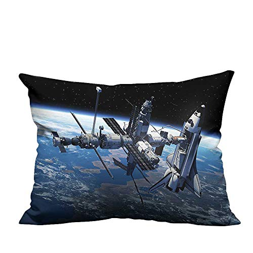 YouXianHome Super Soft Pillowcase Space Shuttle Stati View Adventure The Myst Globe Orbit Blue Gr Resists Wrinkles(Double-Sided Printing) 19.5x26 - Globe Adventure Dora