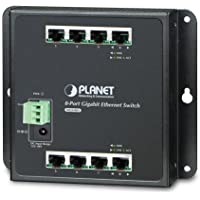 WGS-803 Industrial 8-Port 10/100/1000T Wall-mount Switch (-10~60 degrees C)